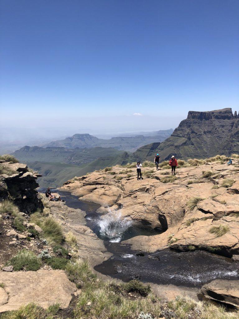 Drakensberg hiking tugela falls view